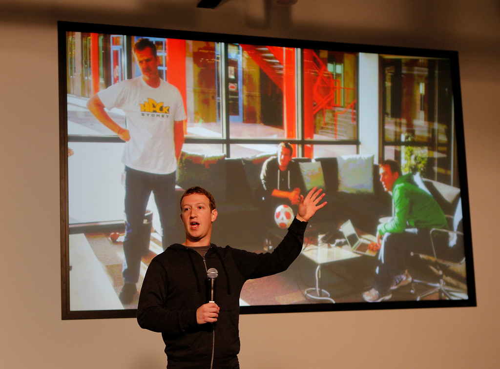 . Mark Zuckerberg announces Graph Search during a press conference at Facebook in Menlo Park, Calif., on Tuesday, Jan. 15, 2013.