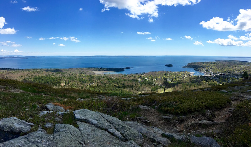 view from Mount Battie in Camden Maine