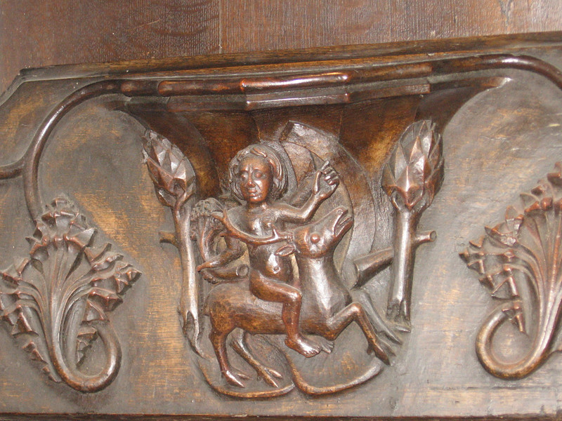 Miseriechord, Holy Trinity Church, Stratford-on-Avon