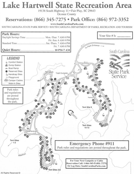 Lake Hartwell State Park (Campground Map)