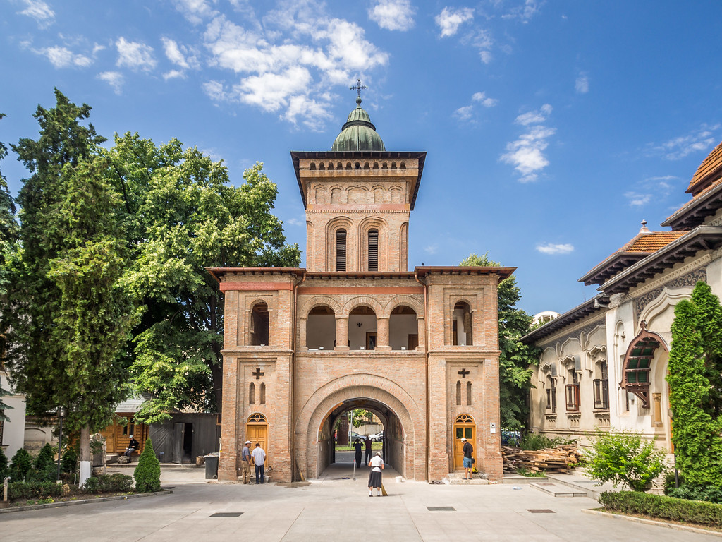 Gate at the Antim Monastery, Bucharest, Romania