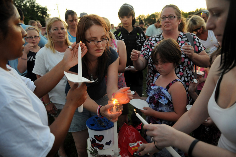 . A candlelight vigil for Isaiah Theis is held in Centuria, Wis., on Thursday, July 18, 2013. (Pioneer Press: Jean Pieri)