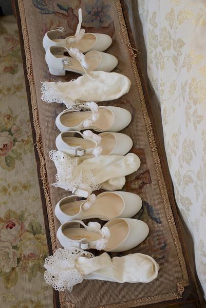 Bridesmaids shoes at a Wedding