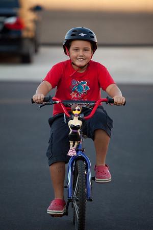Marlin on Bike