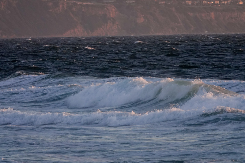 The waves of Hermosa Beach