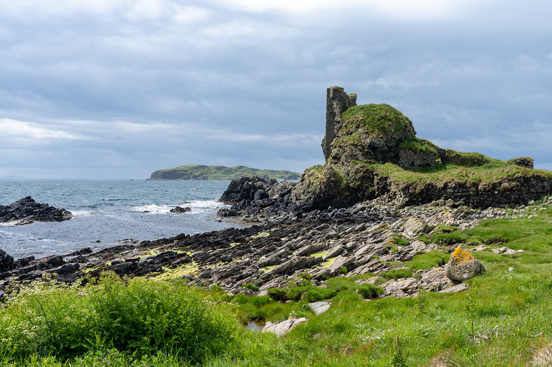 Dunyvaig Castle ruins on Islay