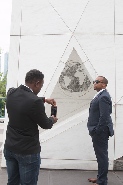 """Ark of Return, """"Permanent Memorial to Honour the Victims of Slavery and the Transatlantic Slave Trade"""" -- Rafael and David visit the United Nations, New York."""