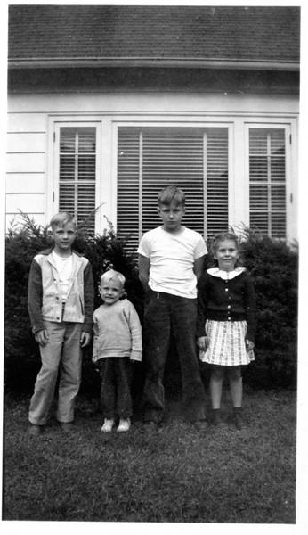 1947 October; John, Donald, Norman Lytle; Betty Jansen