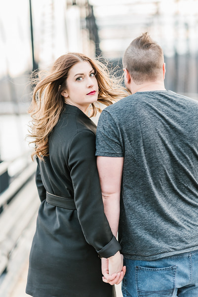 Sarah and David's Engagement in Downtown Harrisburg