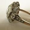 3.45ctw Antique Rose Cut Cluster Ring 14