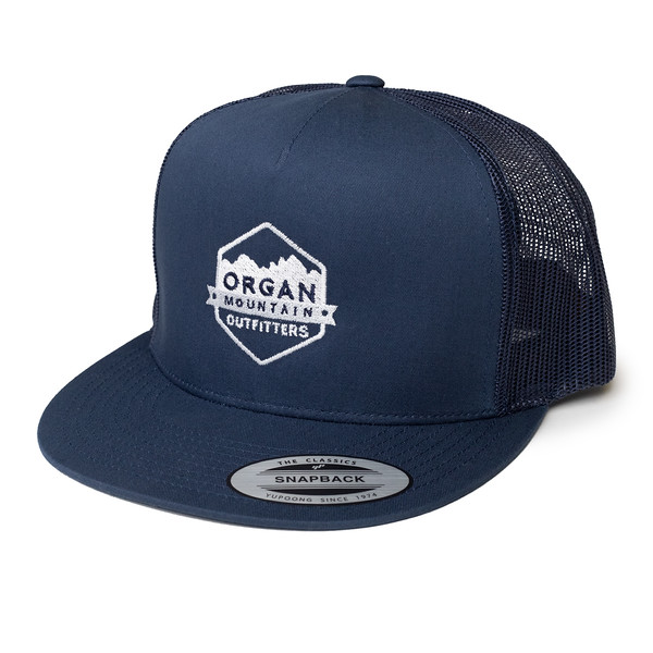 Organ Mountain Outfitters - Outdoor Apparel - Hat - Five Panel Classic Trucker Cap - Navy White.jpg