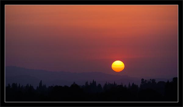 Sunset Behind Wildfire Smoke