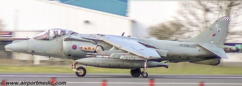 ZD330 BAe Harrier GR9A RAF @ Prestwick Airport (EGPK)