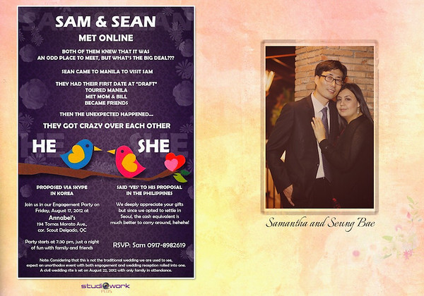Sam ♥ Sean Wedding Storybook