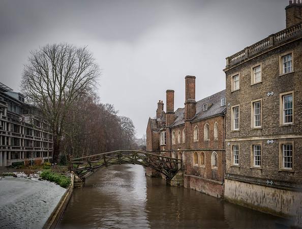 Cambridge in the snow