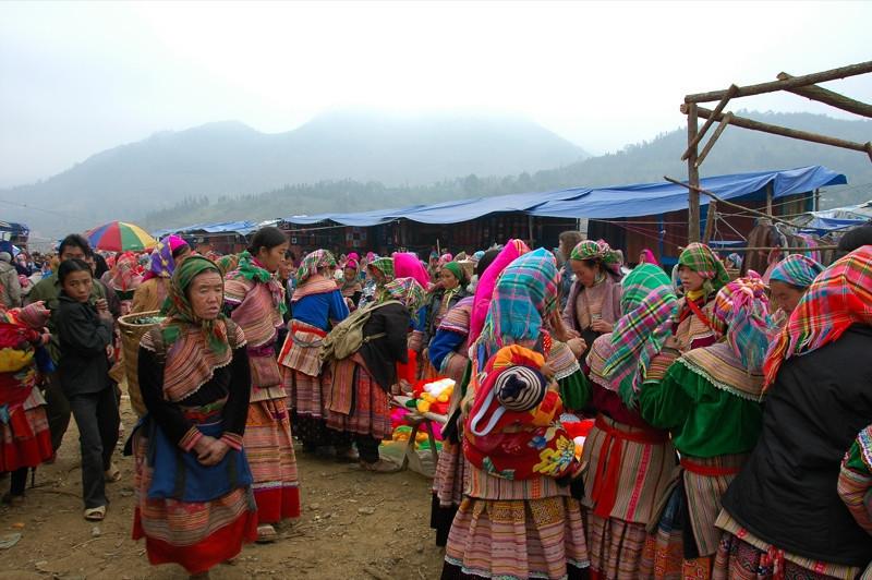 Colorful Yarns at Market - Bac Ha, Vietnam