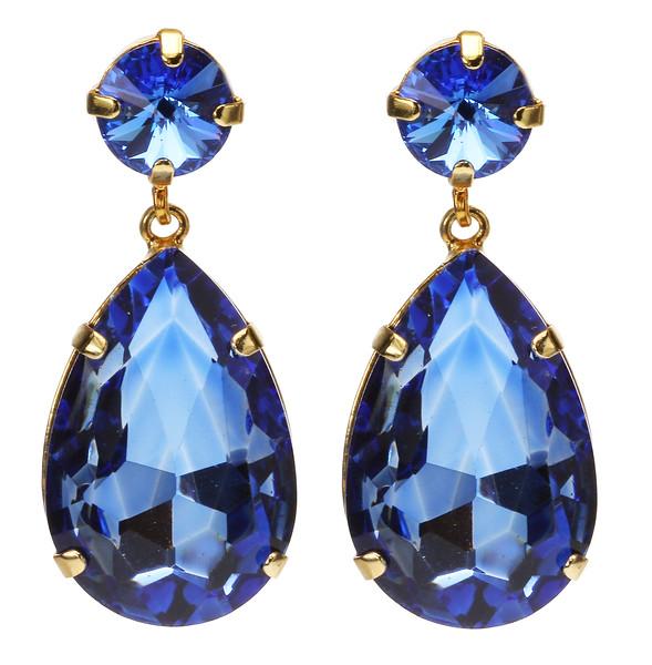 Perfect Drop Earrings / Sapphire