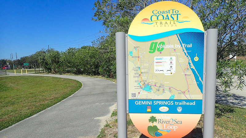 Trail map and bike path