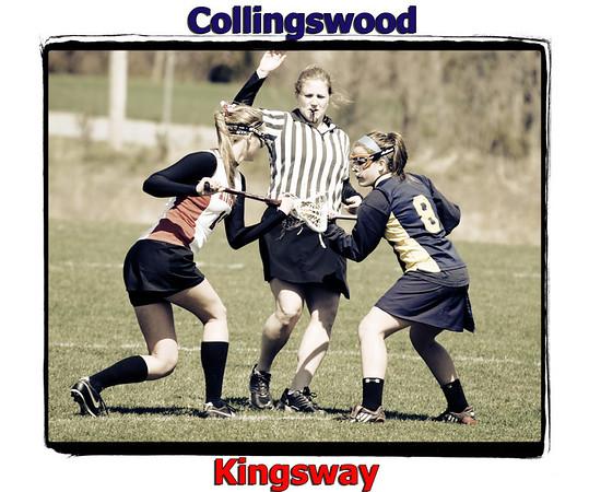 Girl's Lacrosse - Kingsway vs Collingswood 4/04/09