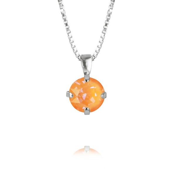 Petite Stud Necklace : Peach Delite Rhodium.jpg