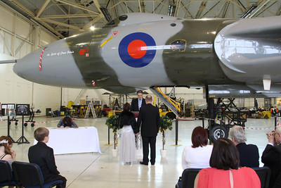 Hangar 3 wedding with XH558..............29th October 2014