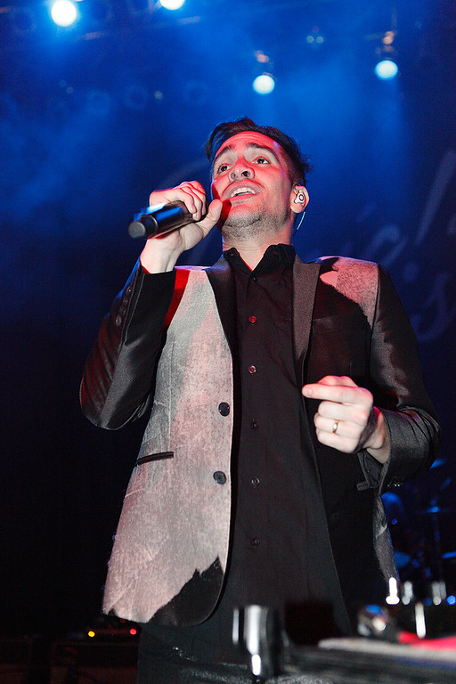 . Brendon Urie of Panic! At The Disco at Fillmore Detroit Thursday night, Dec. 12, 2013. Photo by Ken Settle