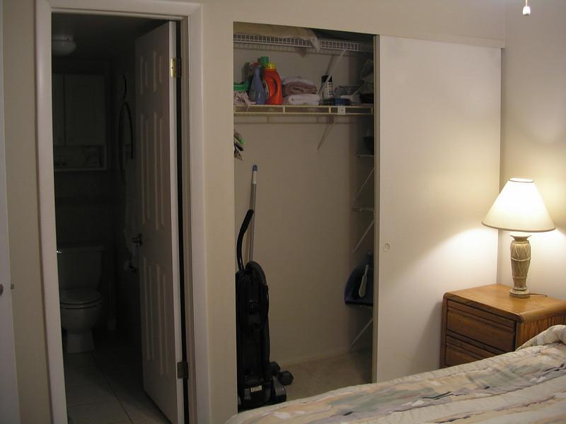 Bathroom and closet at Guest bedroom