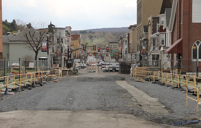 Current Status of Bridge Construction, East Broad Street, Tamaqua (4-26-2014)