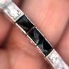 Art Deco Diamond & Onyx Bracelet 16