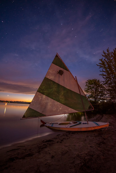 Sunset and Stars on Sebago Lake 2.jpg