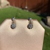 .69ctw Vintage Diamond Double Drop Earrings, French 9