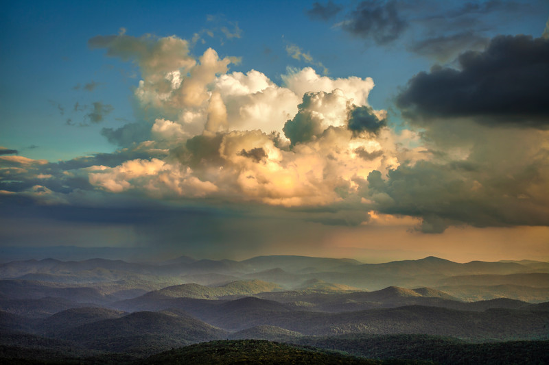 Summer Storm and Blue Ridge Mountains