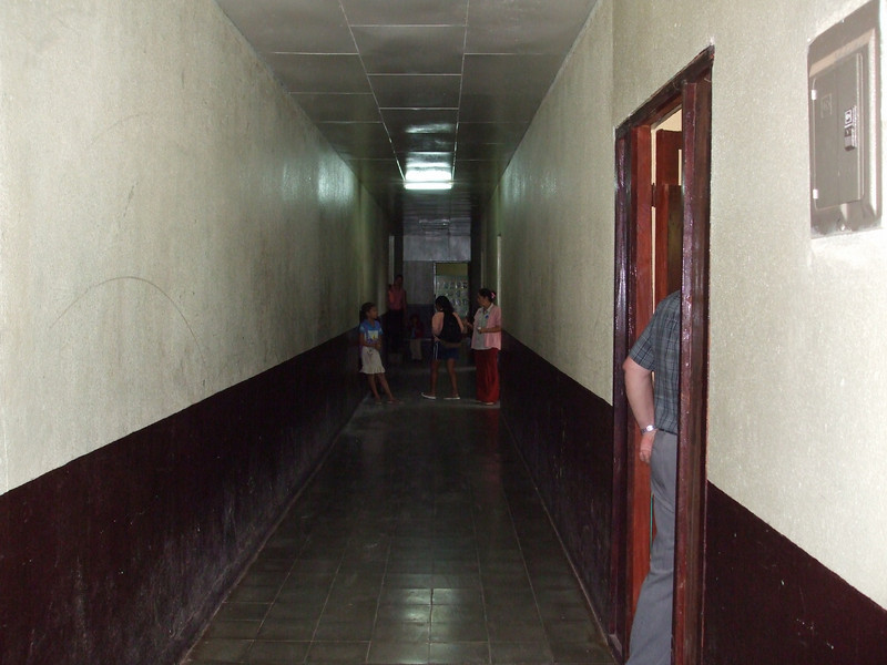 Hallway running length of the building