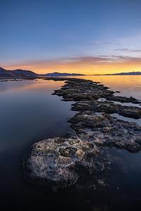 Antelope Island sunset Tufa