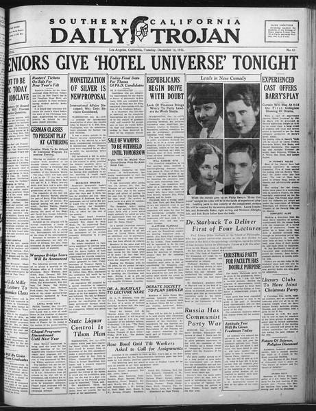 Daily Trojan, Vol. 23, No. 64, December 15, 1931
