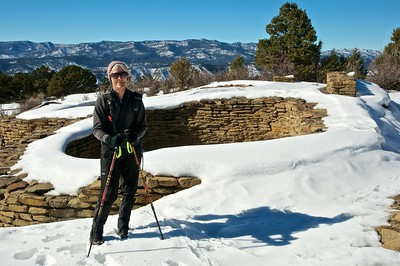 Chimney Rock Snowshoe, Jan 19, 2013
