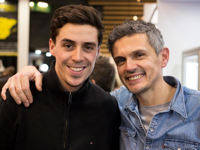 Christophe Adam et Alban Favier, sont chef chocolatier