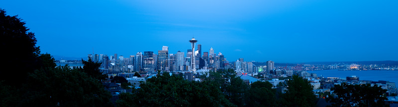 Seattle from Kerry Park at dusk