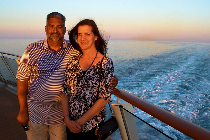 The end of our last day at Sea before returning to NYC.  Weather was gorgeous and great for picture taking.