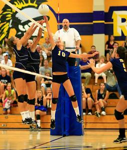 Varsity Girls Volleyball Oak Ridge vs Vista 08-30-2010
