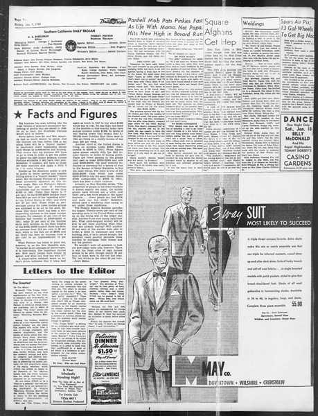 Daily Trojan, Vol. 39, No. 72, January 09, 1948