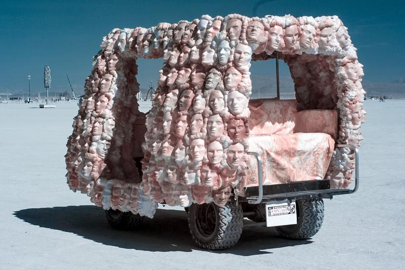 Art Car Made of Heads