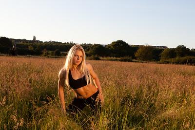 Fitness Lifestyle Sunset Shoot