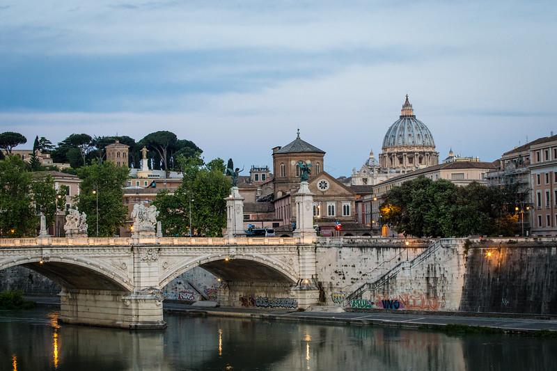 arched bridge over river