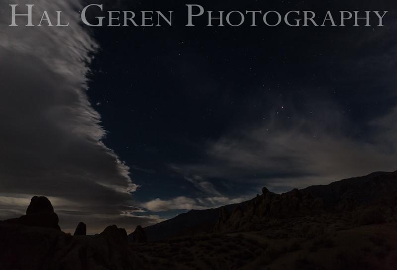 Moonlit Clouds Alabama Hills Lone Pine, California 1610S-AV3-2