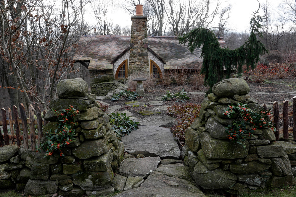 . Shown is an exterior view of the ìHobbit Houseî Tuesday, Dec. 11, 2012, in Chester County, near Philadelphia. Architect Peter Archer has designed a ìHobbit Houseî containing a world-class collection of J.R.R. Tolkien manuscripts and memorabilia. (AP Photo/Matt Rourke)