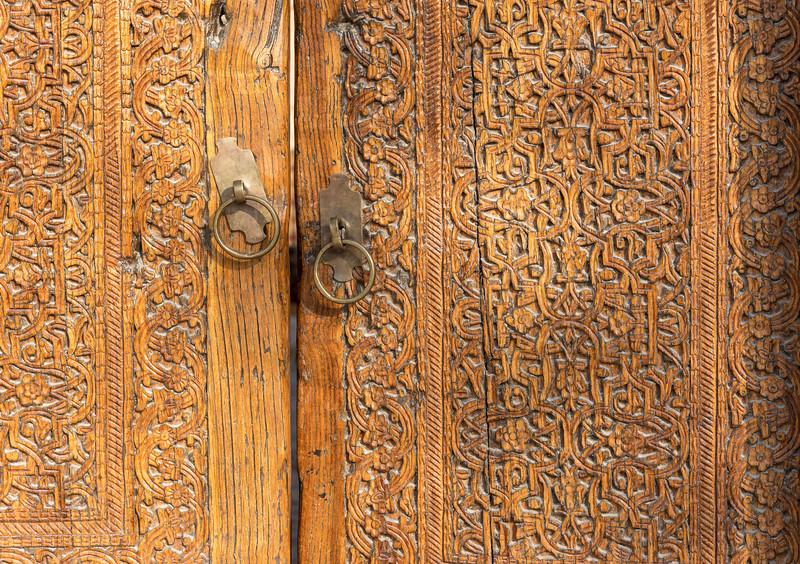 Ornate Wooden Door, Khiva