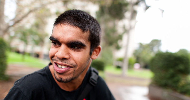 Young Aboriginal Australian Man in an Outdoor Setting