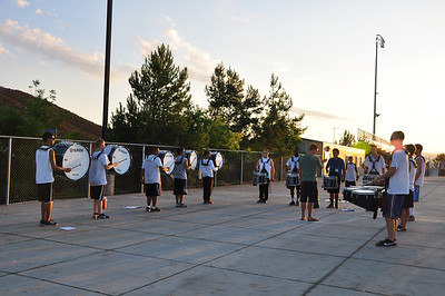 Aug 30, 2012 Marching Band Rehearsal