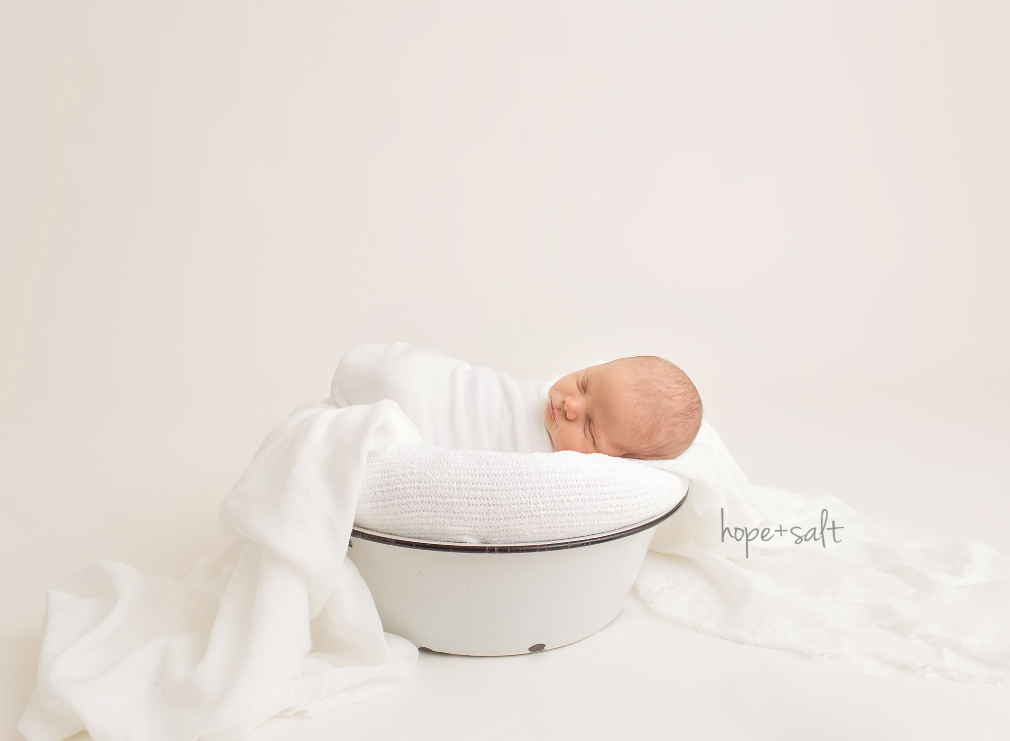 oakville newborn photographer - studio session for 6 day old baby boy aiden and big sibling toddler sister natural simple images using all neutral fabrics and colours